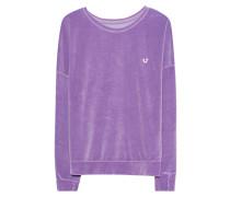 Samt-Sweatshirt  // Velvet Crew Lilac
