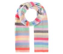 Gestreifter Kaschmir-Mix-Feinstrickschal  // Pastel Multicolor Stripes