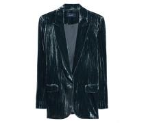 Lässiger Samt Blazer  // Blazer Velvet Blue Black