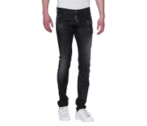 Verwaschene Slim-Fit Jeans  // Long Clement Jean