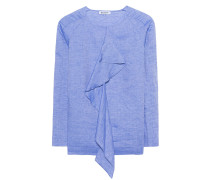 Bluse mit Volant  // Camicia Niniel Light Blue