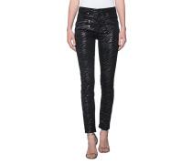 Extravagant-gemusterte Jeans  // Zebra Black