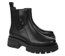 Leder-Chelsea Boots mit Plateausohle