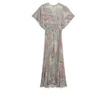 Gemustertes Maxi-Kleid mit geraffter Taille