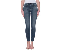 Washed-Out Skinny Jeans  // Power High Twilight Blue