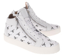 High-Top Sneaker mit All-Over Print  // May London Login White