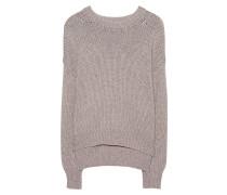 Grobstrick-Pullover  // Woolen Glitter Beige