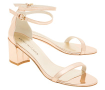 Lackleder-Sandalette  // Simple Glass Beige