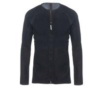Lederhemd mit Reißverschluss  // Segmente Stretch Petrol