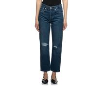High-Waist Ankle Slim-Jeans