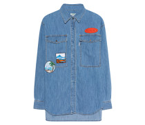 Jeanshemd mit Patches  // Patches Light Denim