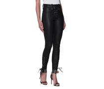 Lammleder-Hose mit Knöchelschnürung  // Lace Up Black