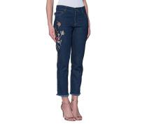 Bestickte Boyfriend-Jeans  // Boy Fit Brut