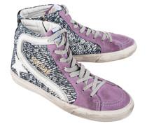 Hohe Sneakers aus Veloursleder  // Slide Black Laminated