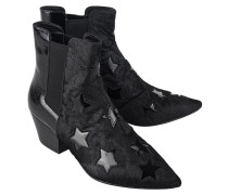 Booties aus Ponyfell  // Cristal Black