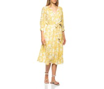Gemustertes Kleid mit Bindegürtel