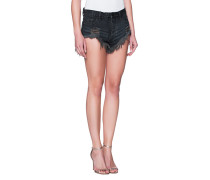 Destroyed Mid-Waist-Shorts  // Rollers Black