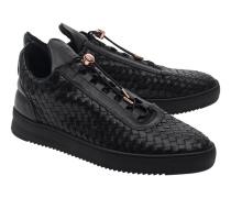 Strukturierte Leder-Sneakers  // Low Top Twist Black