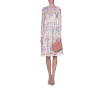 Spitzen-Kleid mit floralem Print