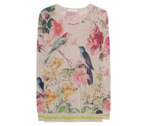 Feinstrickpullover mit Print  // Birds Multicolor