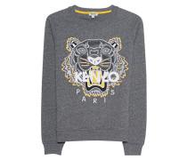 Sweatshirt mit aufgesticktem Tiger  // Tiger Classic Anthra