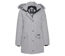 Daunen-Parka mit Fellbesatz  // Trillium Light Grey