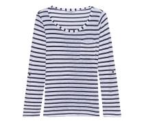 Gestreiftes Longsleeve  // Venice Stripe Pocket Tee White Blue