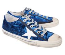 Flache Samt-Sneakers  // V-Star 2 Blue