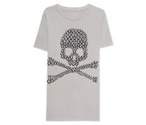 Baumwoll-T-Shirt mit Print  // Crew Skull Sand