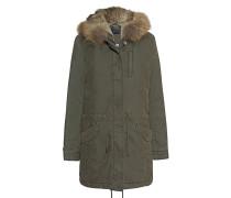 Parka mit abnehmbarem Fell-Besatz  // Basic Fur Oliv