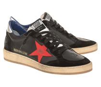 Flacher Leder-Sneaker mit Stern-Detail