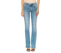 Mid-Waist Super Skinny Bootcut Jeans