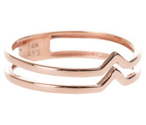 Doppelter V-Ring in Roségold