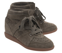 Leder-Wedge-Sneakers  // Bobby Taupe