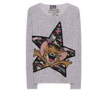 Woll-Kaschmir-Pullover  // Jerry Camouflage Star Grey