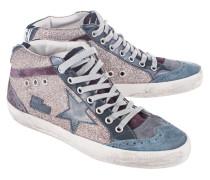 Glitzer verzierte Mid-Top Sneaker  // Mid Star Multi Glitter/Grey Patent