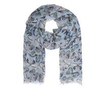 Kaschmir-Seiden-Schal  // Butterfly Blue
