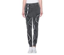 Baumwoll-Sweatpants im Batik-Look