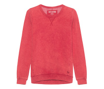 Crew Sweat Moonwash True Red