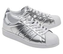Sneakers mit Kunststoffkappe  // Superstar Boost Silver Metallic