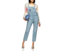 Jeans-Overall im Washed-Out-Look