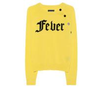 Kaschmir-Pullover mit Statement-Print  // Fever Yellow