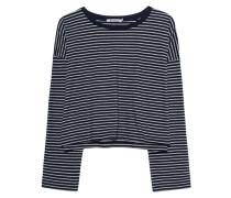 Kurzes gestreiftes Longsleeve  // Striped Drop Shoulder Grey