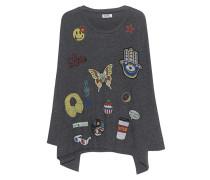 Oversize-Sweatshirt mit Patches  // Mira Oversize Black