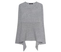 Feinstrick-Kaschmir-Pullover  // Stripe Knit Light Grey