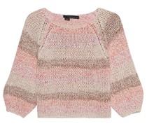 Mehrfarbiger kurzer-Pullover