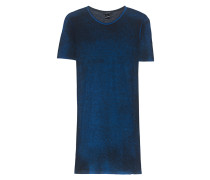 Geripptes Viskose-T-Shirt