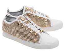 Schmucksteinbesetzte Sneakers  // Low Swarovski Platinum