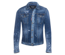 Jeansjacke im Destroyed-Look  // Destroyed Patches Blue