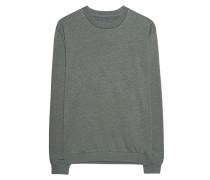 Meliertes Baumwoll-Mix-Sweatshirt  // Sweat Basic Military